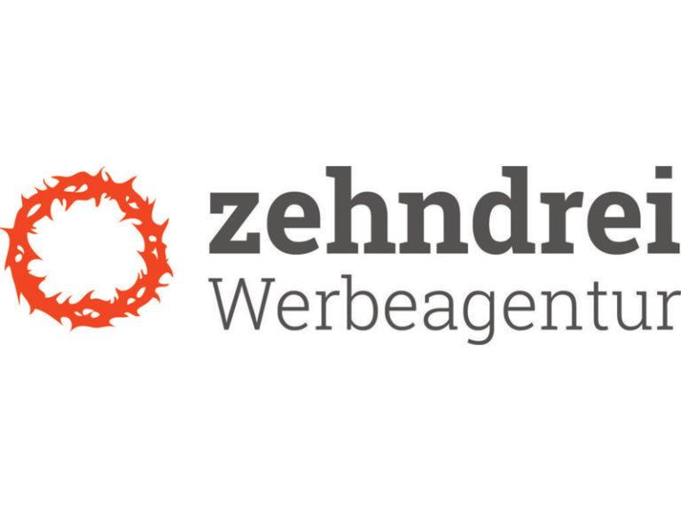 Logo zehndrei neu